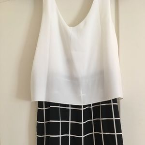 NWT Mango Collection Black & White Checked Shift